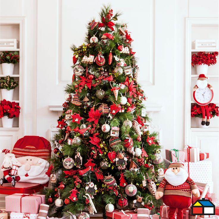 arbol navidad rojo