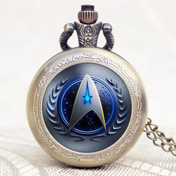Star Trek Theme Pocket Watch Usually ships out within 2-5 days.  Item Type: Pocket & Fob Watches Bezel Material Type: Stainless Steel Case Material: Stainl
