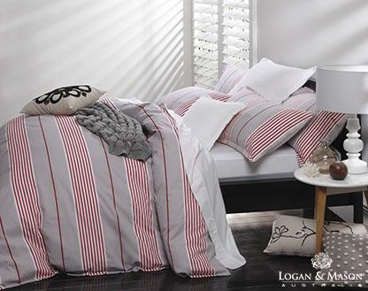 Logan and Mason Toby Red Duvet Cover Set (Due August)