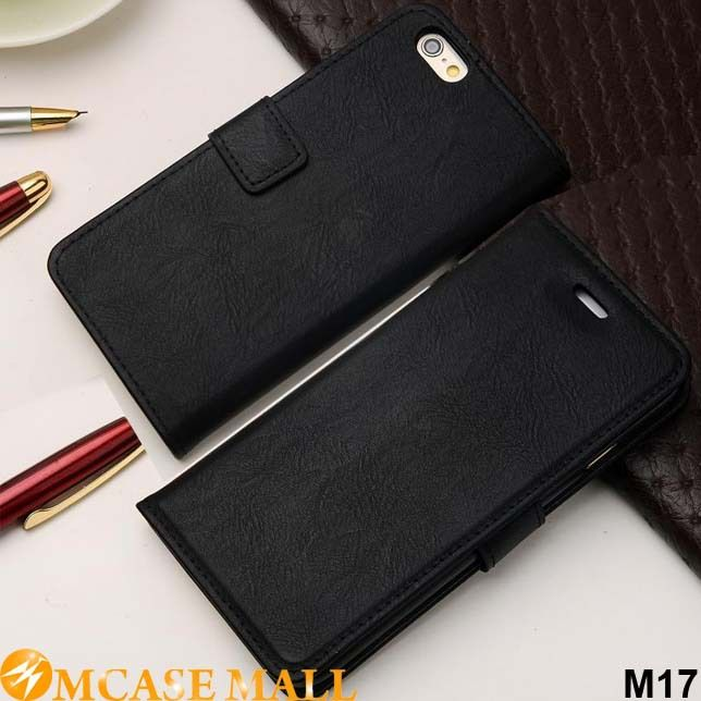 1 Piece Cowhide Leather Wallet Case For Apple iPhone 6 Plus 5.5 Holdering Stand Cover Cell Phone Case Credit Card Slots, Accept the payment method via Paypal, Escrow, Credit Card, etc...