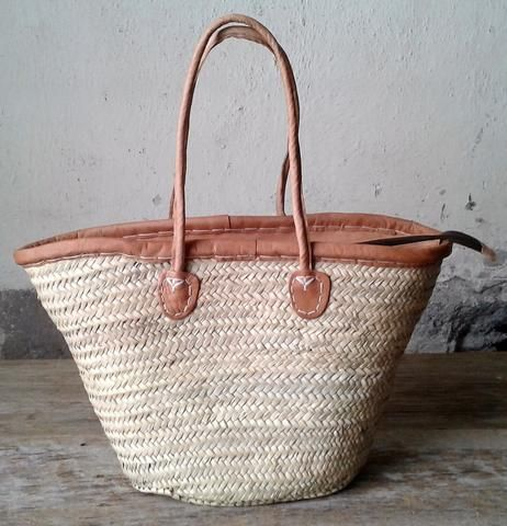 Zippered Top French Market Basket