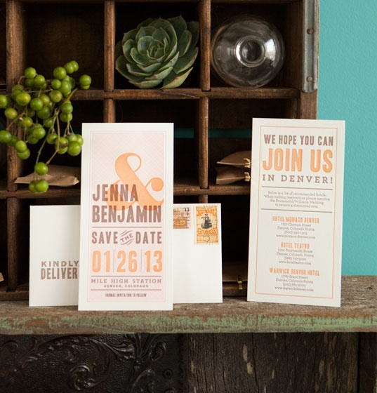 Classic and Modern Letterpress Wedding Invitations | Oh So Beautiful Paper