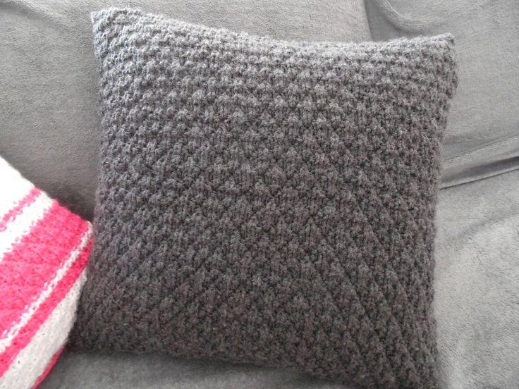 comment tricoter un coussin