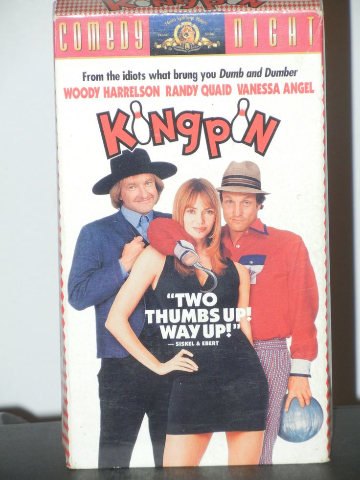 Kingpin Bowling Movie on VHS  Woody Harrelson Randy Quaid Vanessa Angel Bill Murray Freedy Johnston Bobby Farrelly Peter Farrelly by GailsPopCycle on Etsy