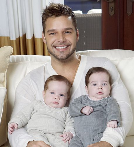 Ricky Martin, a happy dad who happens to be gay.