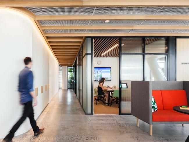 There Are Private Spaces Where Employees Can Work Alone Or Video Conference As Well The AustraliaOffice InteriorsCommercial DesignNews