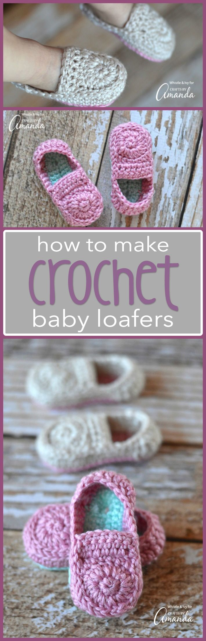 Crochet Baby Loafers Booties