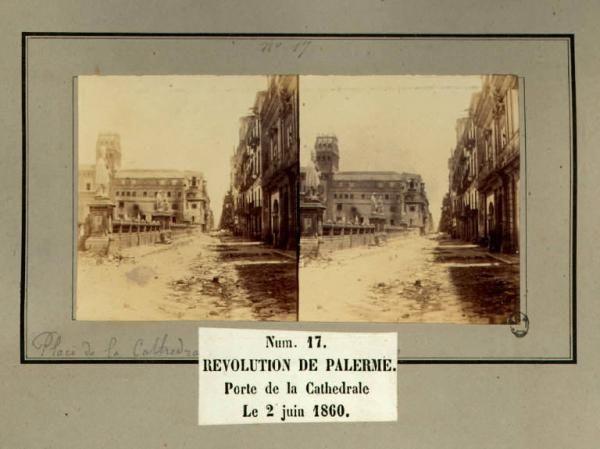 Spedizione dei Mille - Rivoluzione di Palermo - Porta della Cattedrale