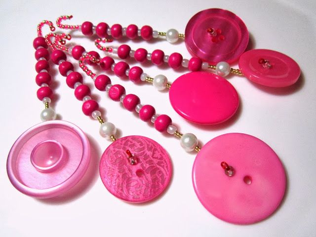 Bright Pink Buttons
