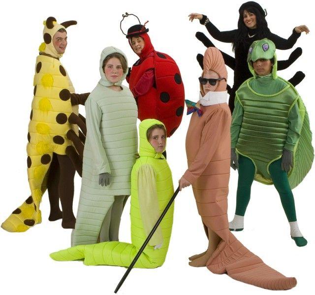 Trajes de alquiler para James y el melocotón gigante - el Sr. ciempiés, gusanos de seda, Luciérnaga, la señora de la mariquita, lombriz de tierra, Miss Spider, el Sr. Saltamontes