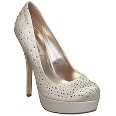 BRIGHTLY D - Diamante Platform Court Shoe