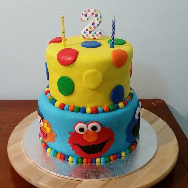 Sesame Street cake I made for my daughters 2nd bday