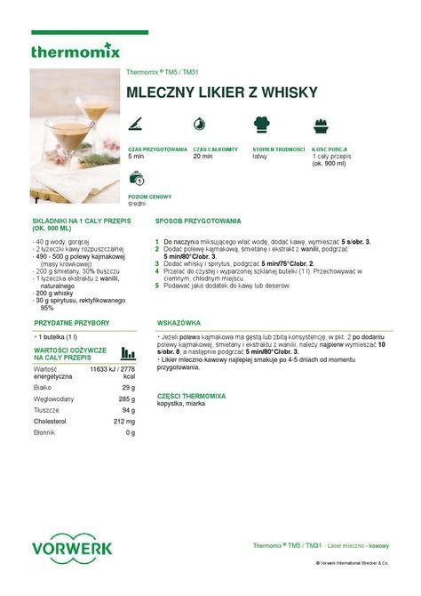 thermomix - Mleczny likier z whisky