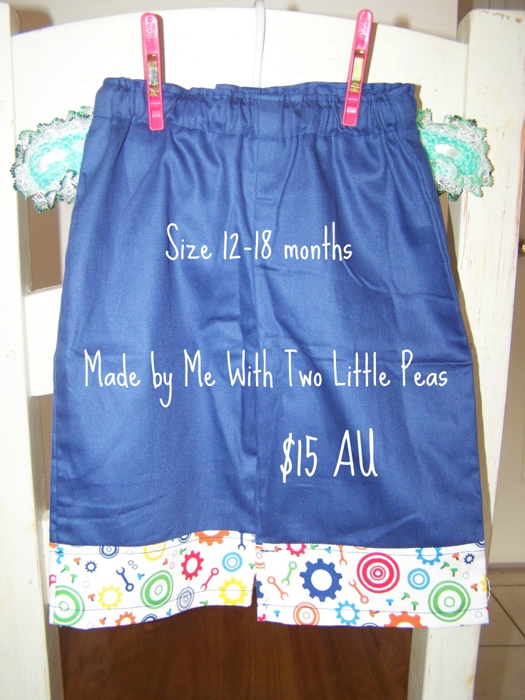 3/4 long shorts for little boys, great for in between weather, made from sturdy drill and quality cotton fabric