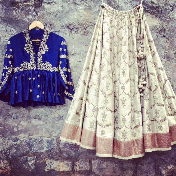 Jayanti Reddy. Beautiful ivory lehenga and bloue color top with hand embroidery thread work. Contact on +917330687770 or email on jayantireddyofficial@gmail.com for enquiries and orders. 13 September 2017