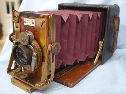 "*3 1/4 x 4 1/4""* Sanderson Hand Camera Vintage Bellows -RED BELLOWS"