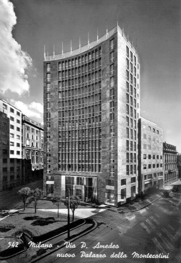 Secondo Palazzo Montecatini in Largo Donegani, Milano (1951)   Giò Ponti