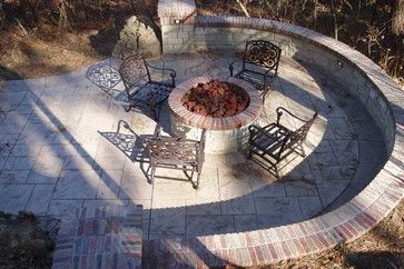 50 best images about hillside fire pit ideas to build on for Fire pit on concrete slab