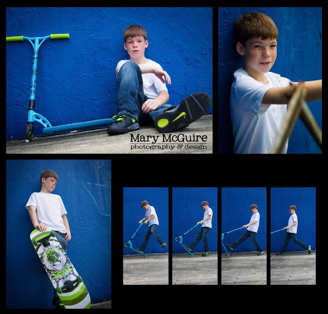 Mary McGuire Photography: Urban Pre Teen Photo Shoot (A boy with his skateboard and scooter)