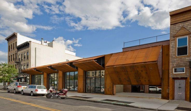 Wycoff Exchange, andre kikoski architects, bushwick, moveable facade, corten steel, green design, green renovation