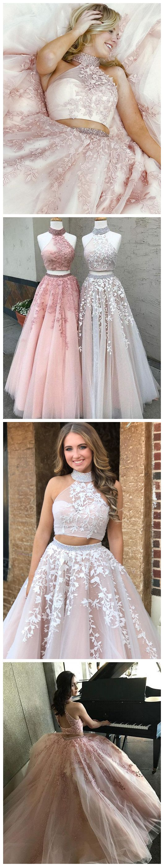 2018 Prom Dress prom dresses long,prom dresses modest,prom dresses high neck,prom dresses pink,prom dresses cheap,prom dresses applique,beautiful prom dresses,prom dresses 2018,prom dresses elegant,prom dresses a line #amyprom #longpromdress #fashion #prom #party #formal