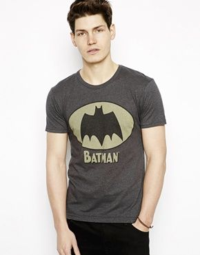 Image 1 of Pull&Bear T-Shirt with Retro Batman Print