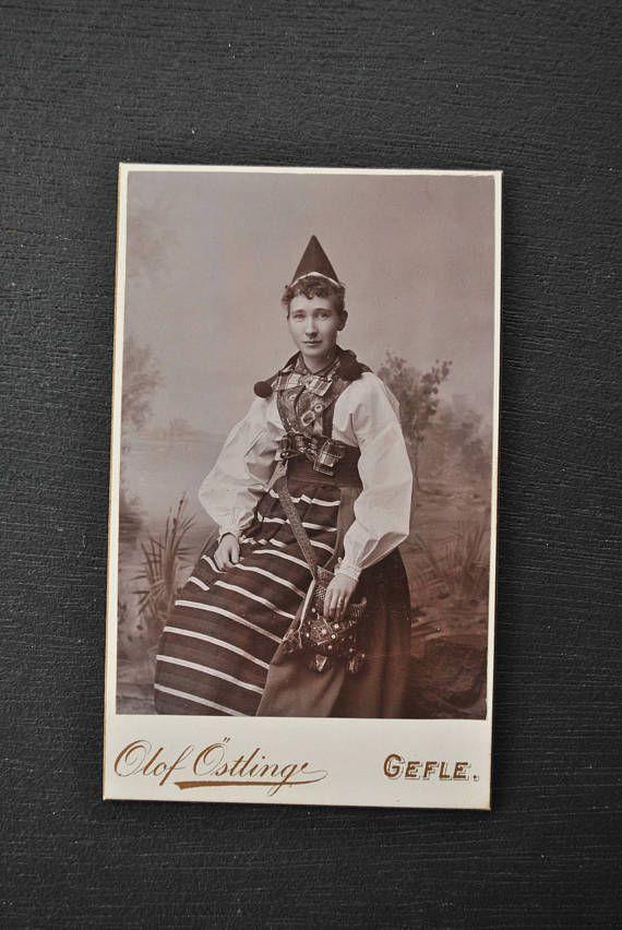 Antique CDV Swedish Woman
