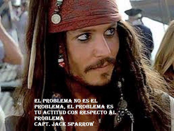 La manera en que se enfrentan los problemas, el espacio que se abre para ellos en el pensamiento, la predisposición a hacerse cargo de ellos, son, para el Capitán Jack Sparrow, el problema. Los sen...