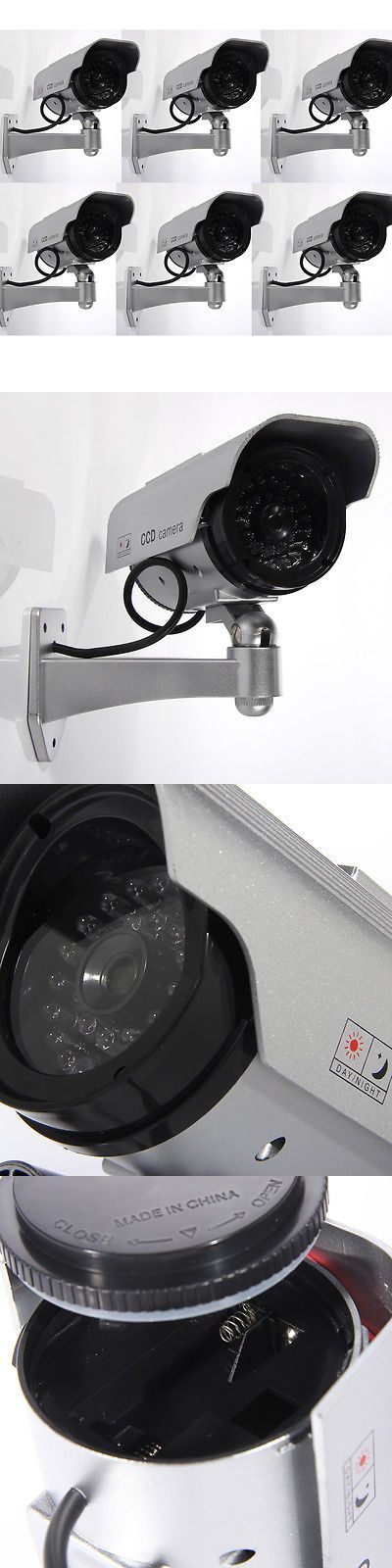 Dummy Cameras: 6Pcs Flashing Light Dummy Security Camera Fake Led Surveillance Solar Power Cctv -> BUY IT NOW ONLY: $43.89 on eBay!