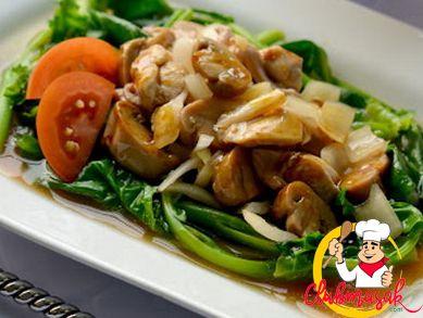 Resep Hidangan Sayuran, Tumis Kailan Oriental, Menu Masakan Sehat, Club Masak