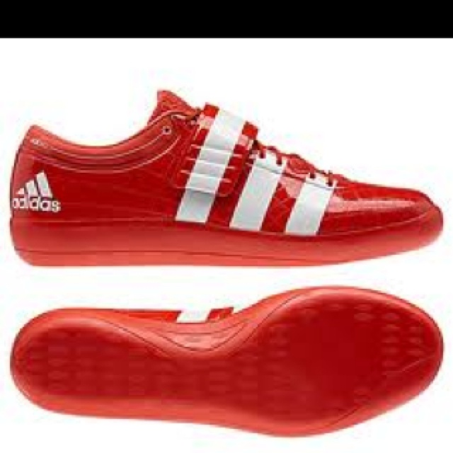 Red Adidas Discus Shoes