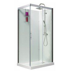 Cabine de douche rectangulaire 110x80 cm, Thalaglass 2 thermo