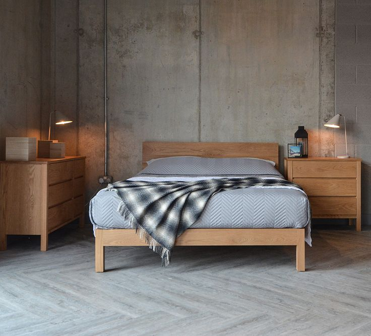 Solid oak chests  the oak Malabar bed and grey quilt. 238 best Monochrome Bedroom Looks images on Pinterest   Monochrome