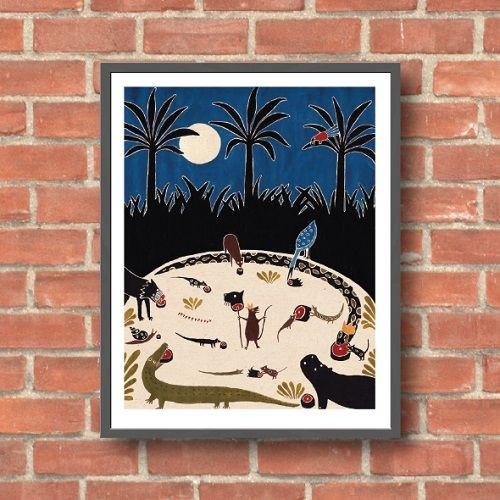 Lara Hawthorne - Jungle Feast, giclee print