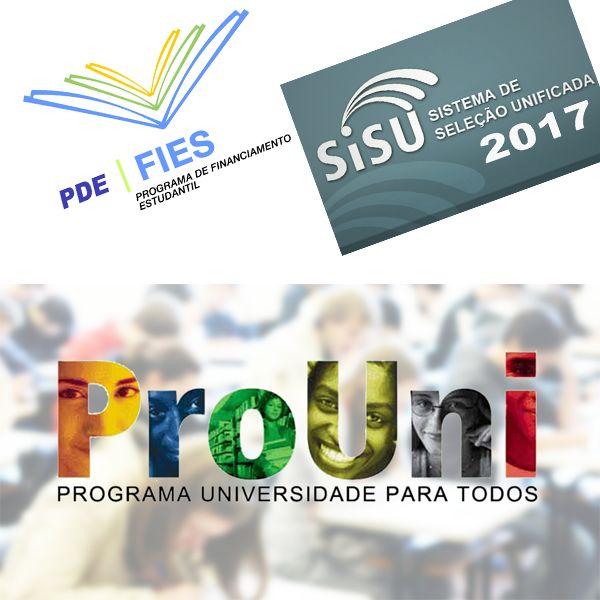 Confira as datas do Sisu, ProUni e Fies 2017