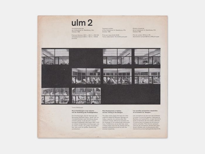 Display | Journal of the Hochschule fur Gestaltung ulm 2 | Collection