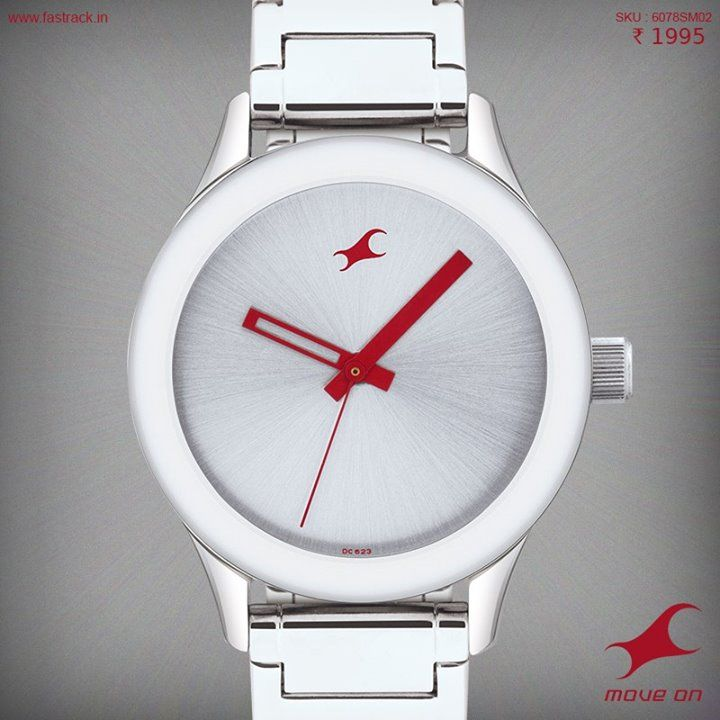 A little red can go a long way. Get yourself one of the awesome new watches from #Fastrack! #Watch #Design #MonoChrome #Awesome