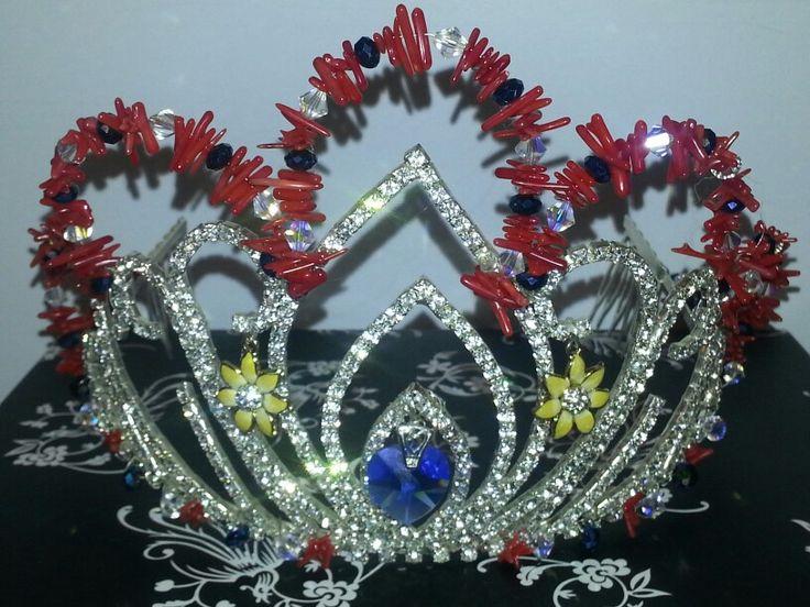 Miss World Samoa crown by Aqua Jewels