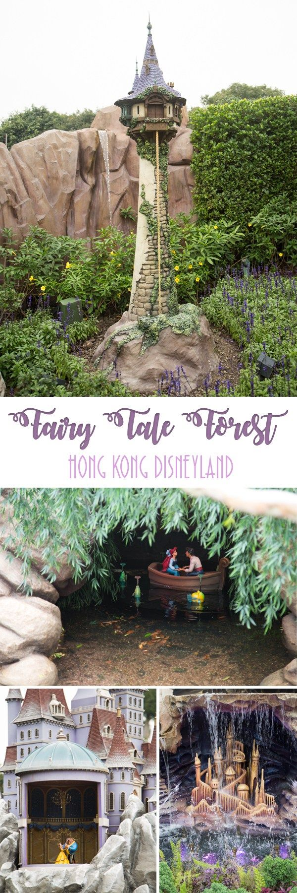 Fairy Tale Forest Fairy Tale Forest is exclusive to Hong Kong Disneyland. You can find itat the entranceof Fantasyland coming from Adventureland or Toy Storyland. Here you can see miniature movie scenes from all your favorite Disney fairy tale stories. ... Read More