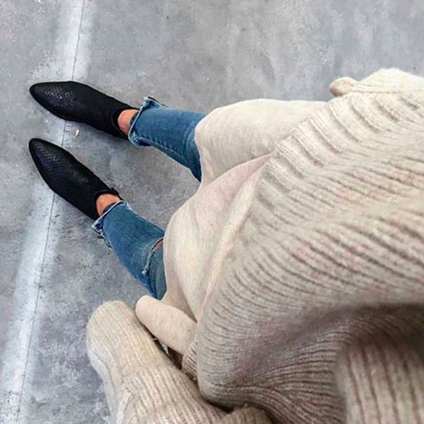 Kış üniformamız: Bej kazak + Jean + Siyah Bot √ #ootd