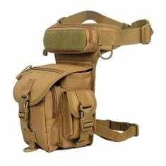 Men's Nylon Waterproof Outdoor Sports Leg Bag Multifunction Hiking Fishing Waist Bag