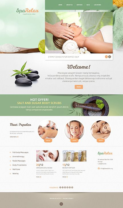 Template 47994 - Spa Salon Responsive WordPress Theme