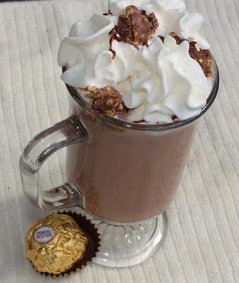 What's Cookin' Italian Style Cuisine: Nutella Ferrera Rocher Hot Chocolate..OMG! simply Sinful!!