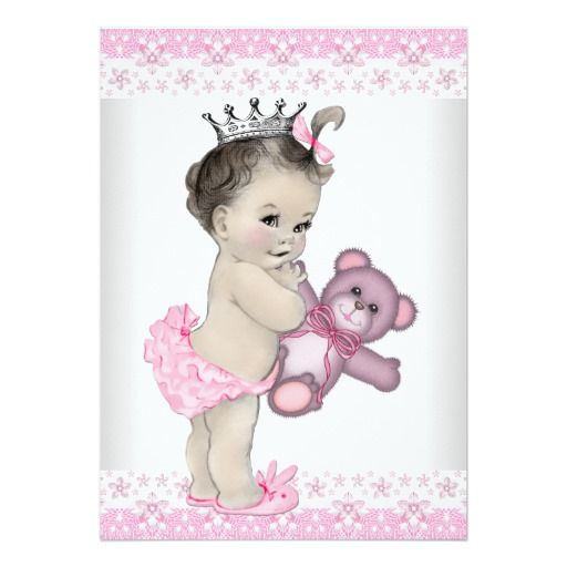 pink teddy bear princess baby shower