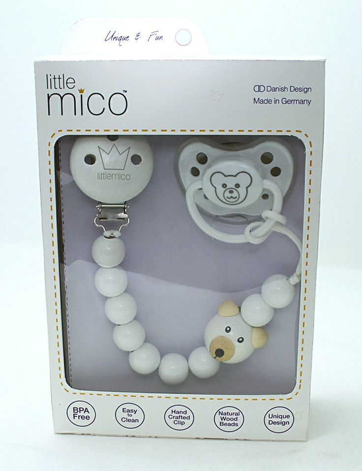Littlemico Teddy Gift Set [Teddy Pacifier Holder + Teddy Pacifier]