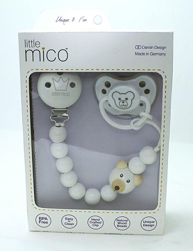 Littlemico Teddy Gift Set [Teddy Pacifier Holder + Teddy Pacifier]