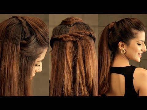 Hair Styles For School 3 EASY Everyday Pouf Hairstyle For School, College, Work /No Teasing, No Ha...