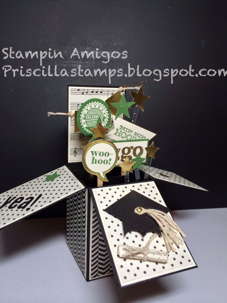 Stampin Up - Graduation Card in a Box (Stampin' Amigos)