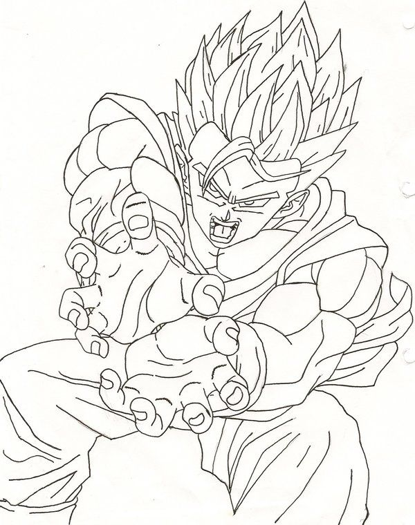 coloring pages dragonball z ssj5 - photo#19