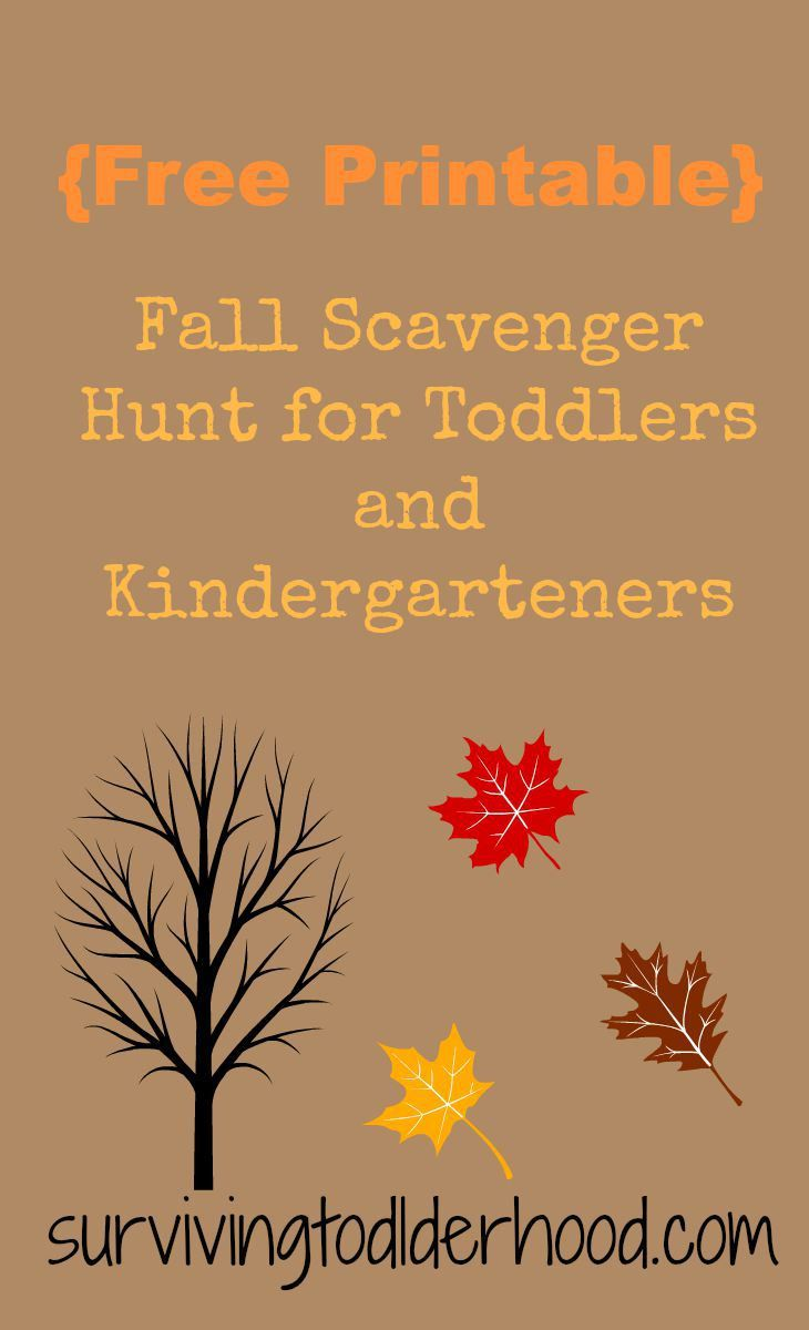 Free Printable Fall Scavenger Hunt For Toddlers And